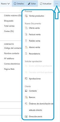 Acceso a funcionalidades NAV